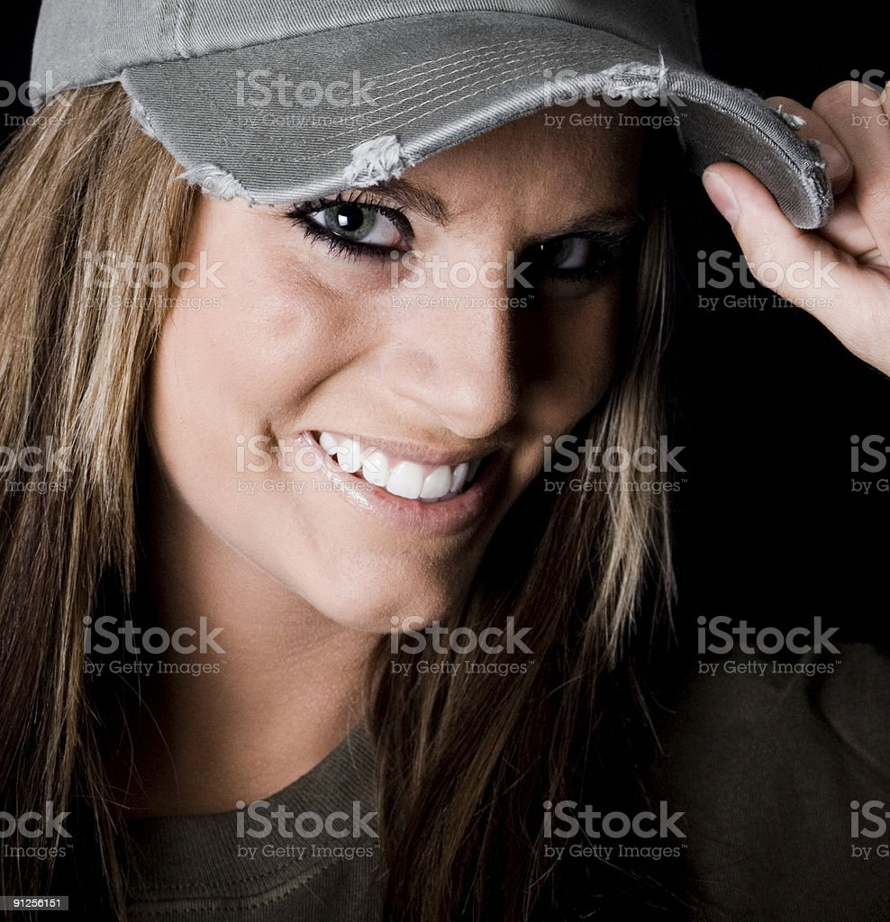 Happy Woman portrait royalty-free stock photo