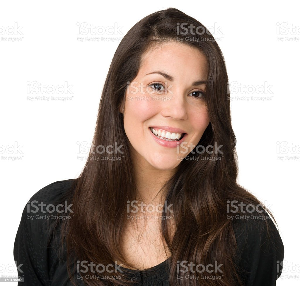 Happy Woman Smiling Portrait royalty-free stock photo
