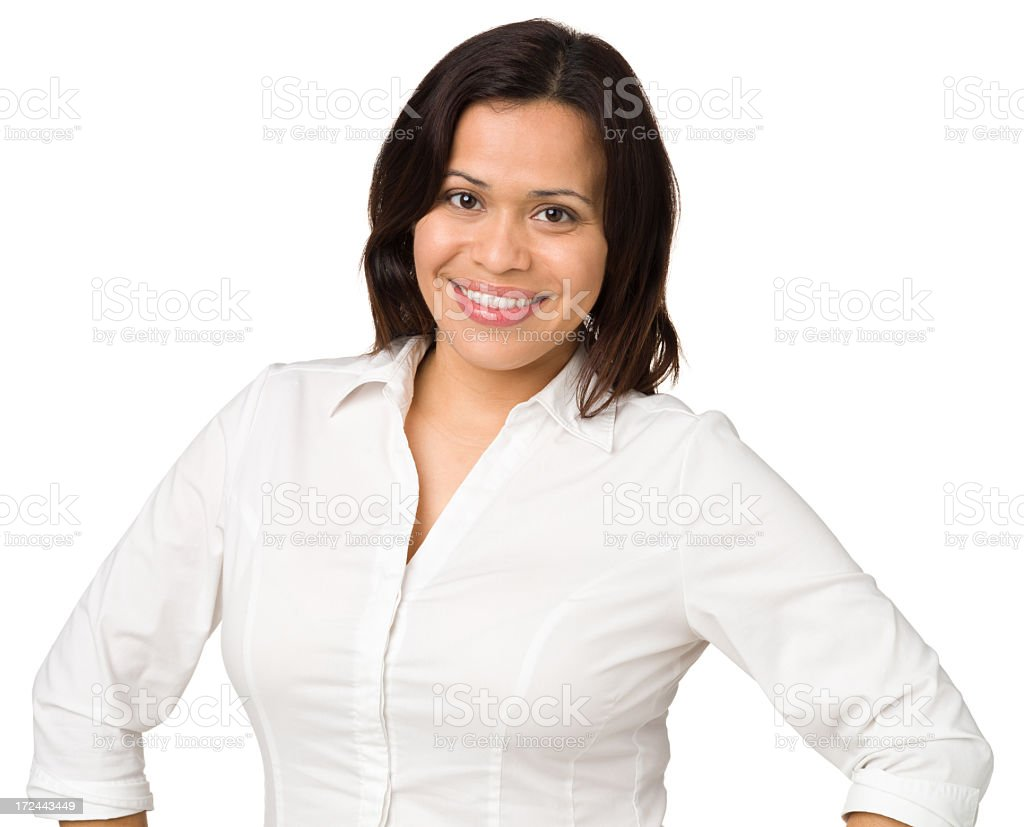 Happy Woman, Waist-Up Portrait royalty-free stock photo