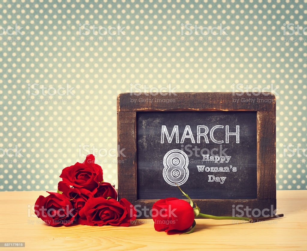 Happy Womans Day March 8th stock photo