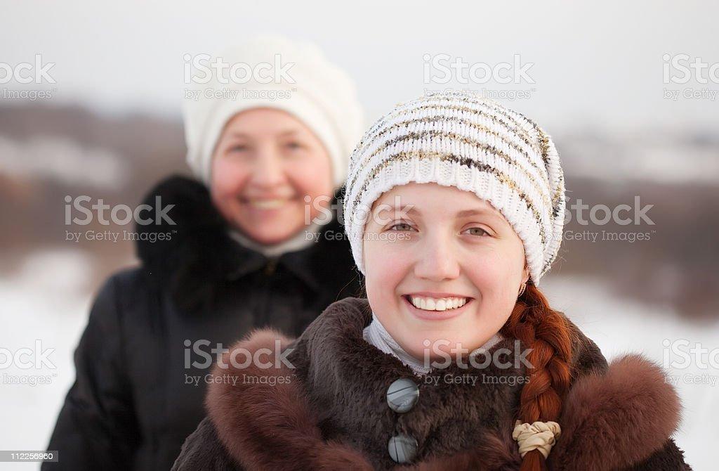 happy women in winte royalty-free stock photo