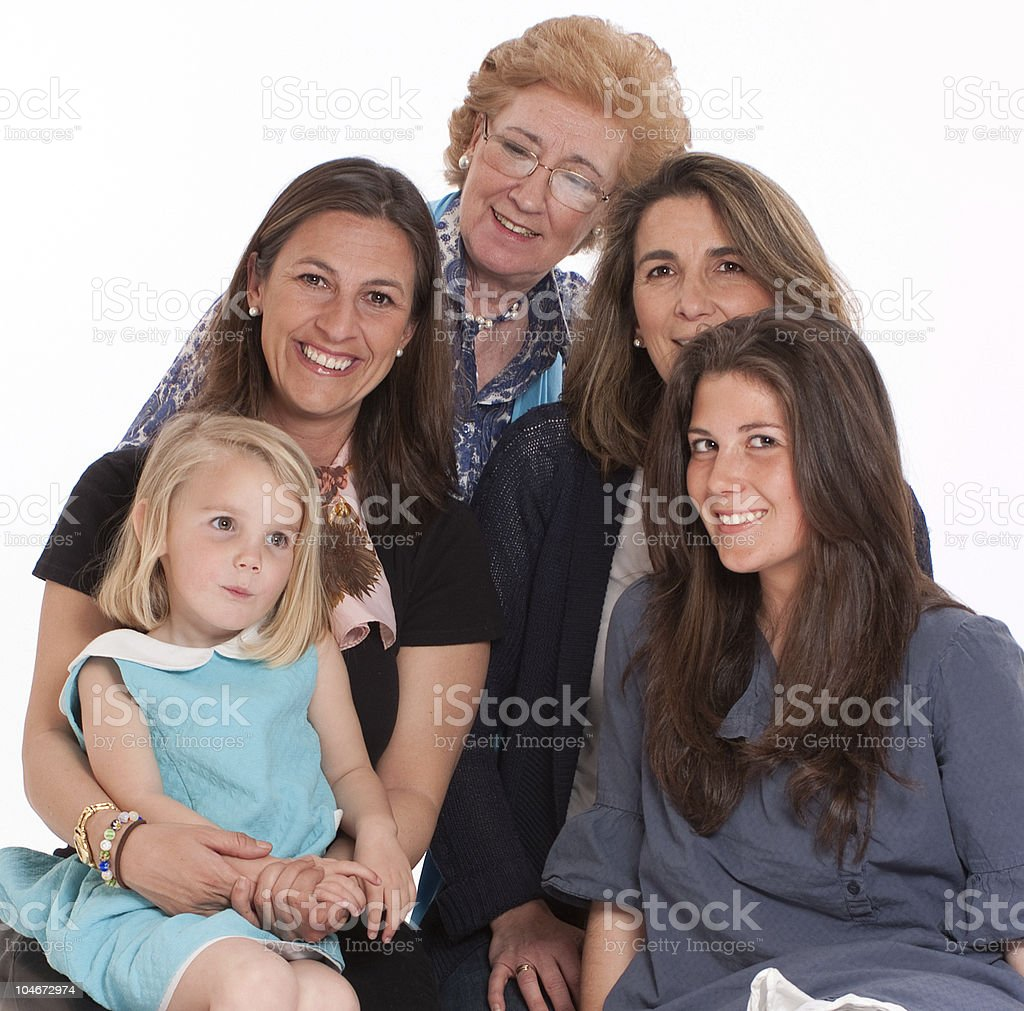 Happy women stock photo