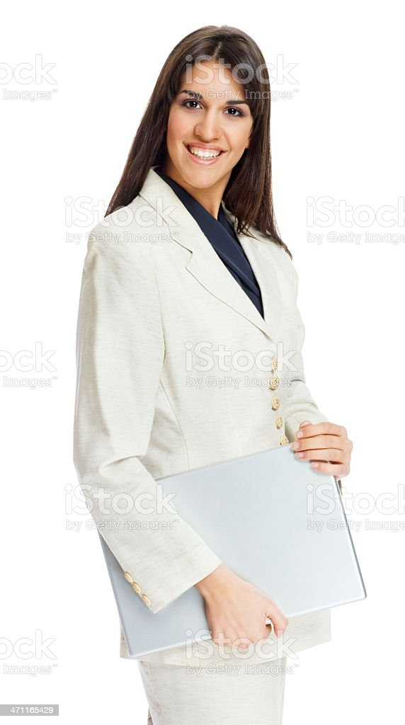 happy women with laptop royalty-free stock photo
