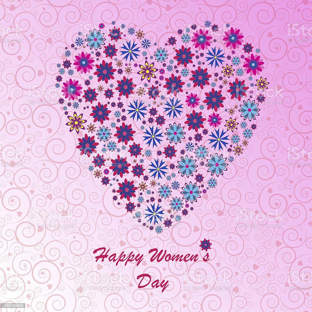 Happy Women's Day background stock photo