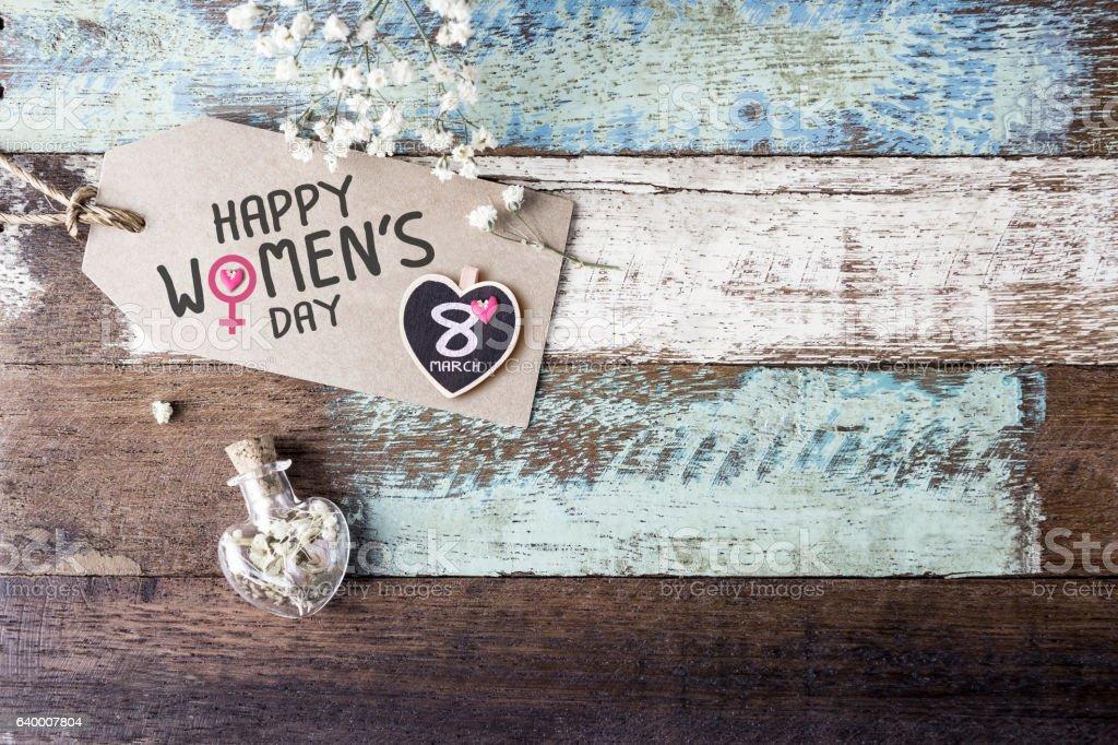 Happy womens day stock photo