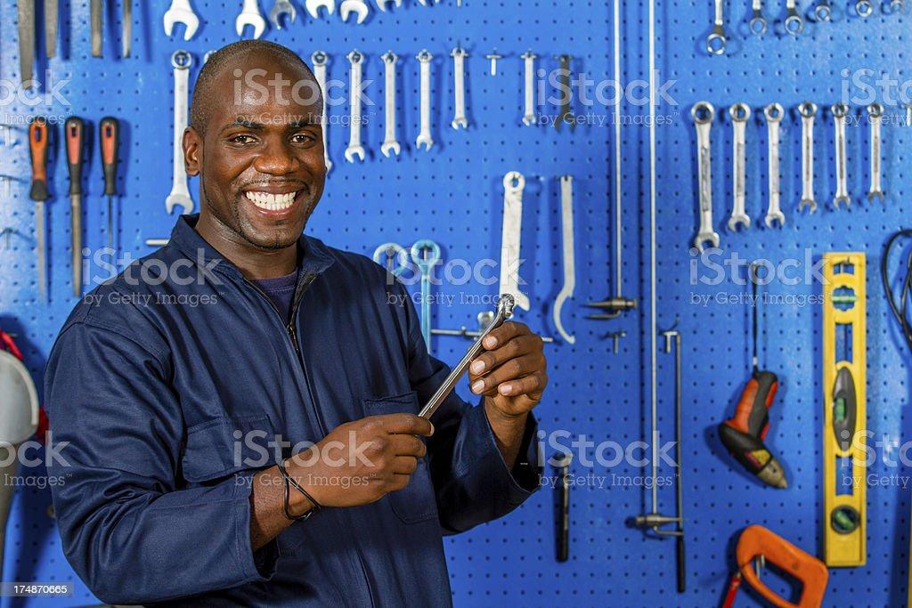 Happy working man royalty-free stock photo