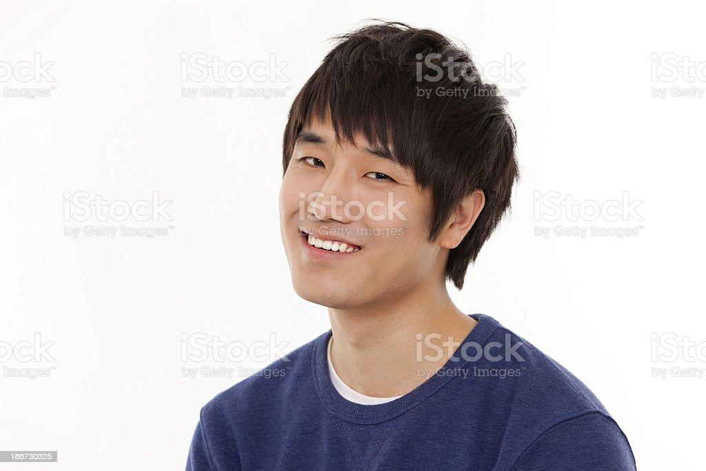 Happy young   Asian man close up shot royalty-free stock photo