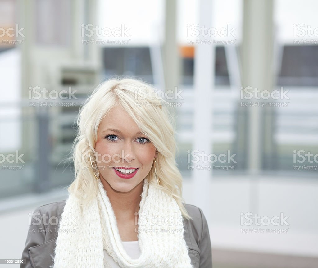 happy young blond female royalty-free stock photo