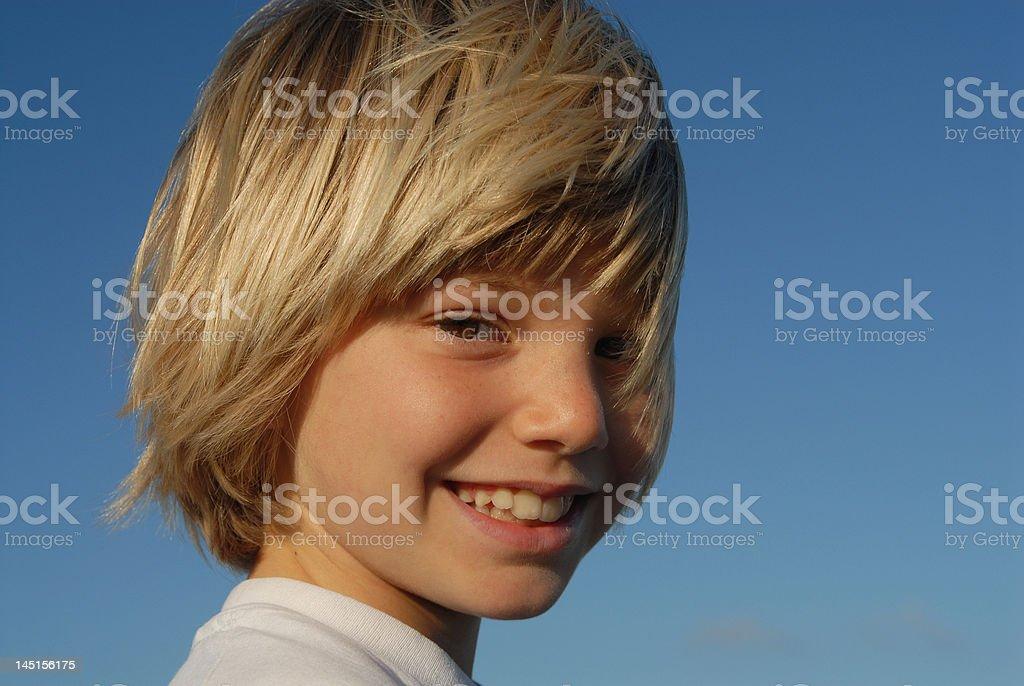 Glückliche junge Jungen Lizenzfreies stock-foto
