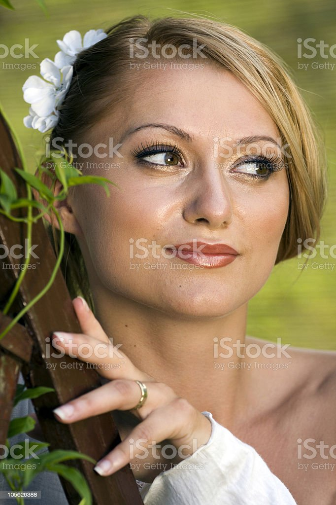 Happy young bride royalty-free stock photo
