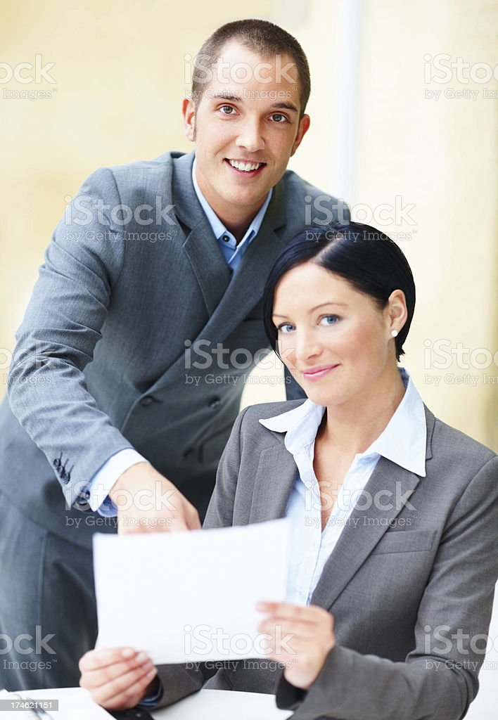Happy young business people together royalty-free stock photo
