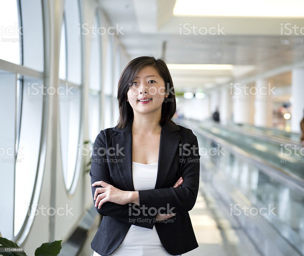 happy young businesswoman royalty-free stock photo