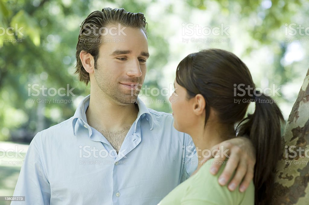 Happy young couple embracing each other royalty-free stock photo