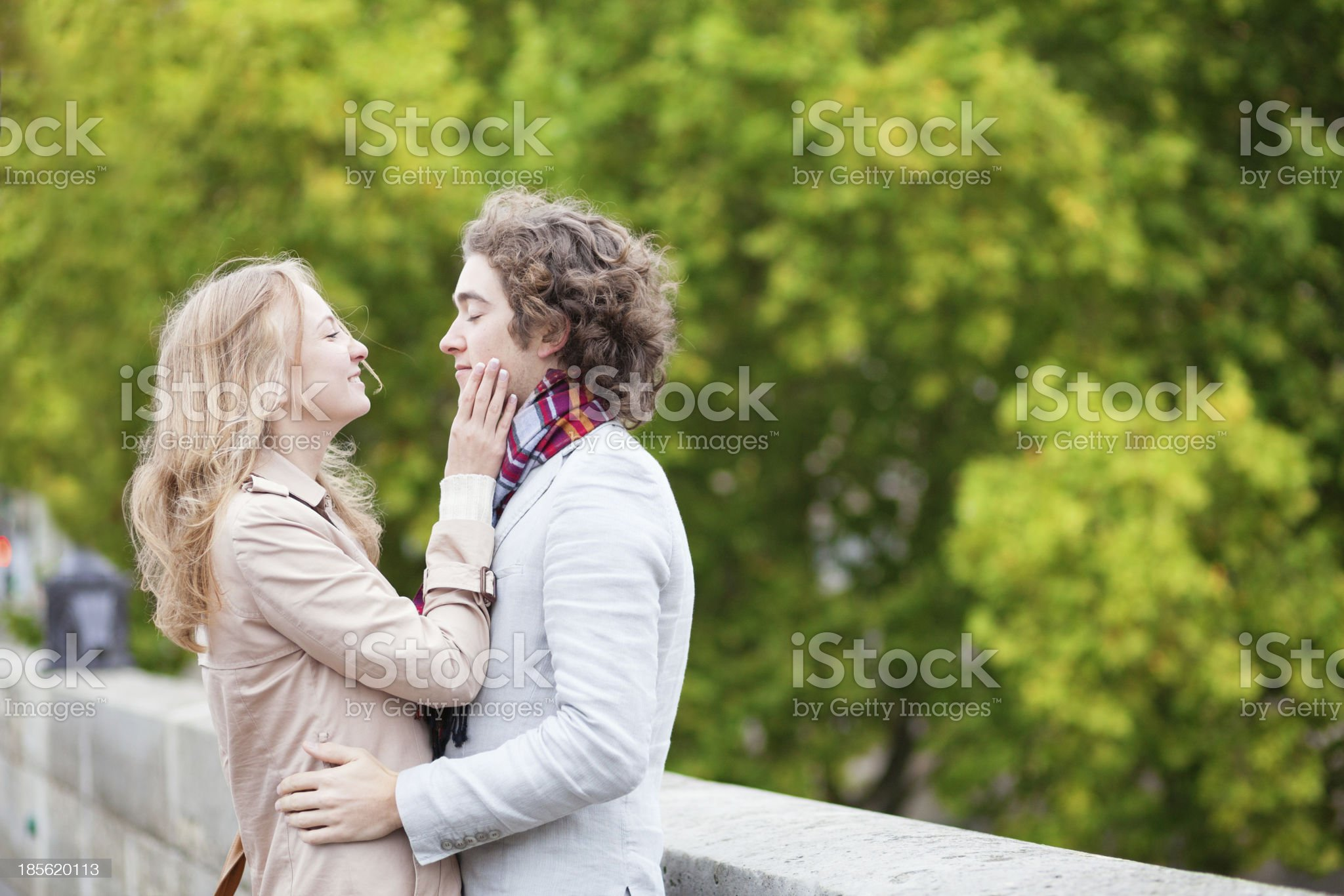 Happy young couple having a date royalty-free stock photo