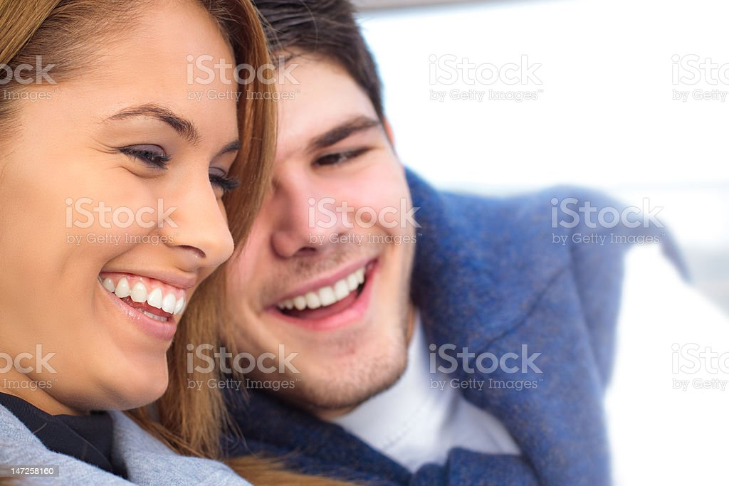 Happy Young couple having fun outside royalty-free stock photo