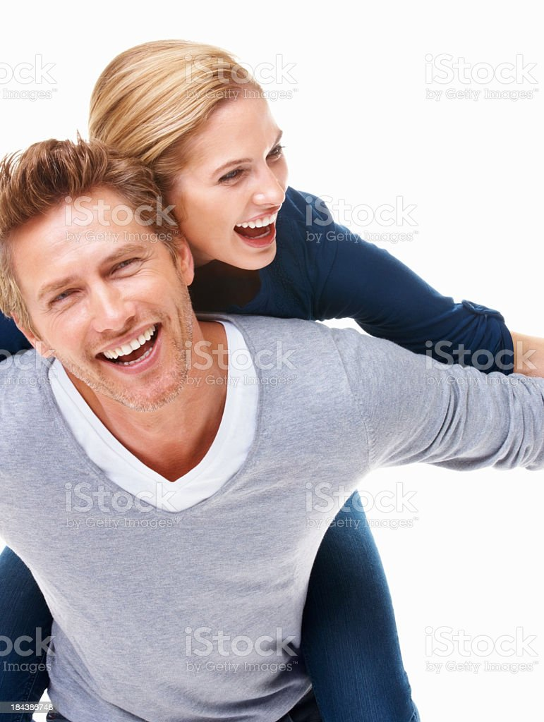 Happy young couple having fun together royalty-free stock photo
