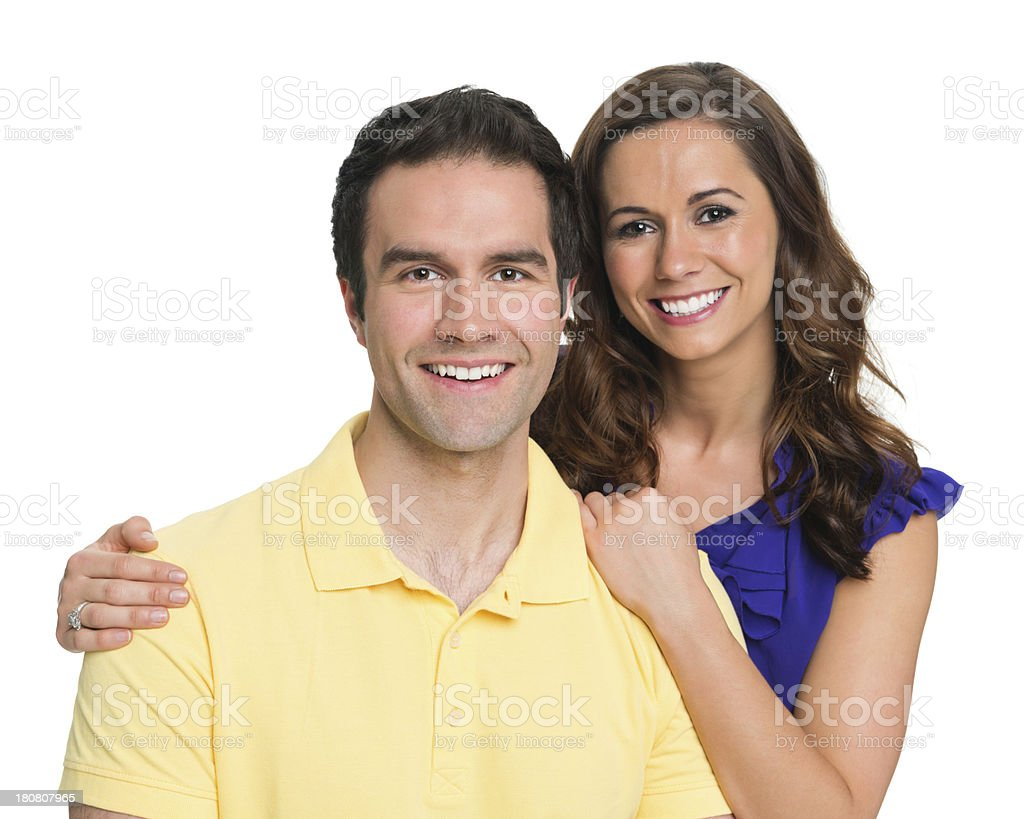 Happy Young Couple In Casuals royalty-free stock photo