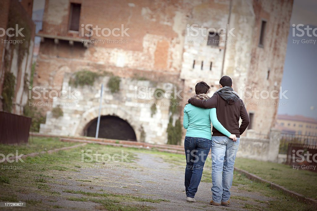 Happy Young Couple of Student royalty-free stock photo