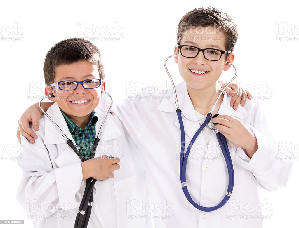 Happy young doctors royalty-free stock photo