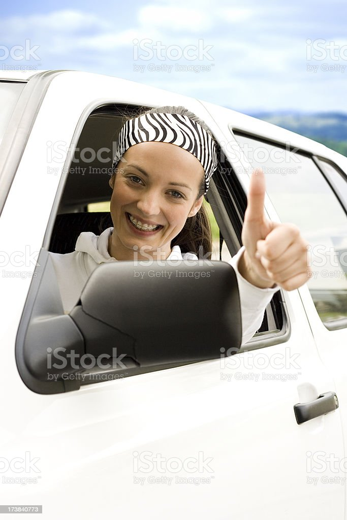Happy Young Driver royalty-free stock photo