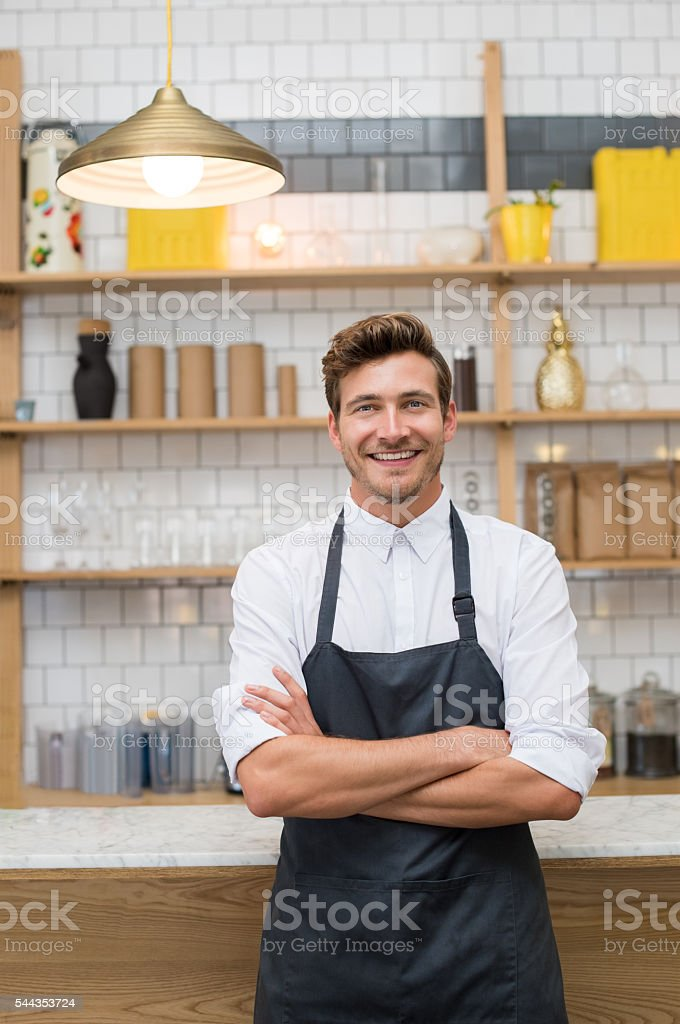 Happy young entrepreneur stock photo