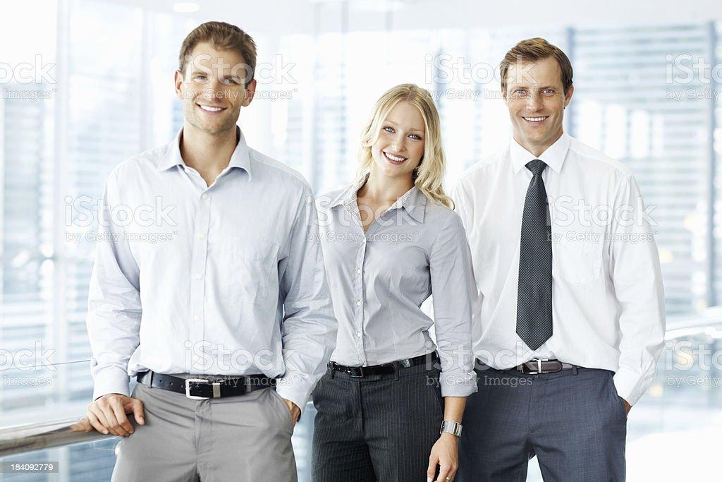 Happy young executives royalty-free stock photo