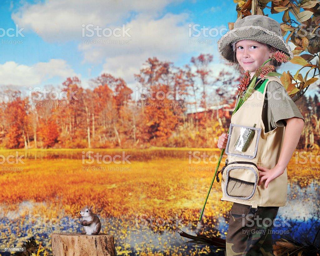 Happy Young Explorer stock photo