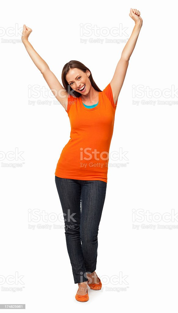 Happy Young Female - Isolated royalty-free stock photo