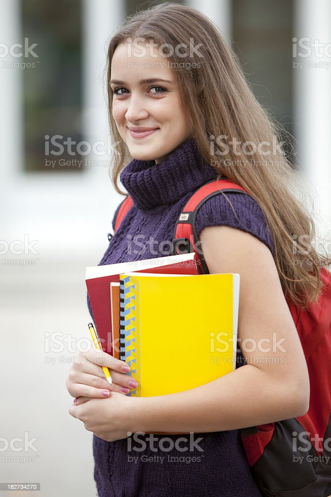 Happy young female student royalty-free stock photo