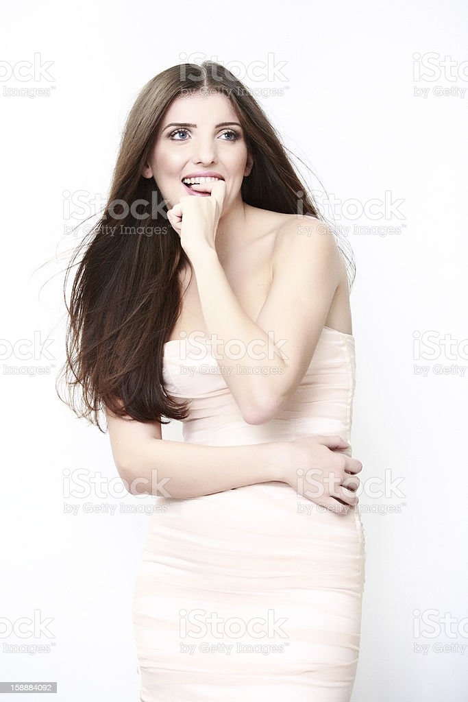 happy young girl portrait royalty-free stock photo