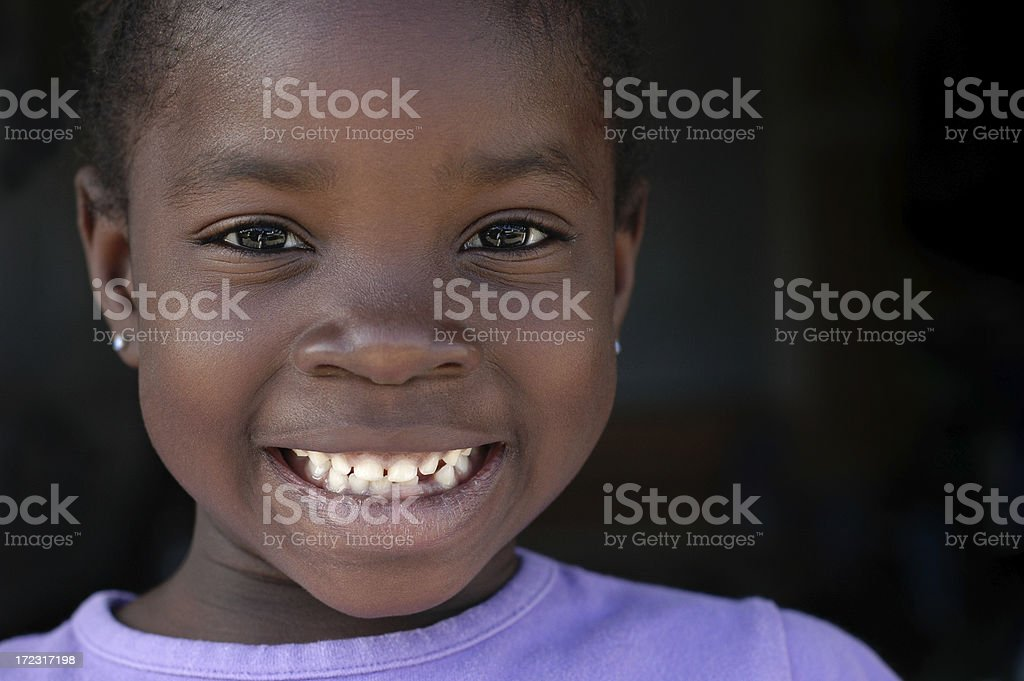 Happy Young Girl with a Big Smile royalty-free stock photo
