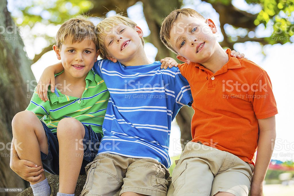 Happy Young Kids stock photo