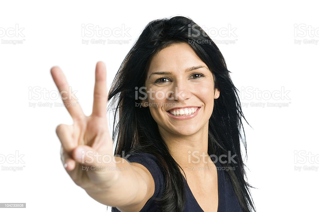 Happy young latin woman royalty-free stock photo