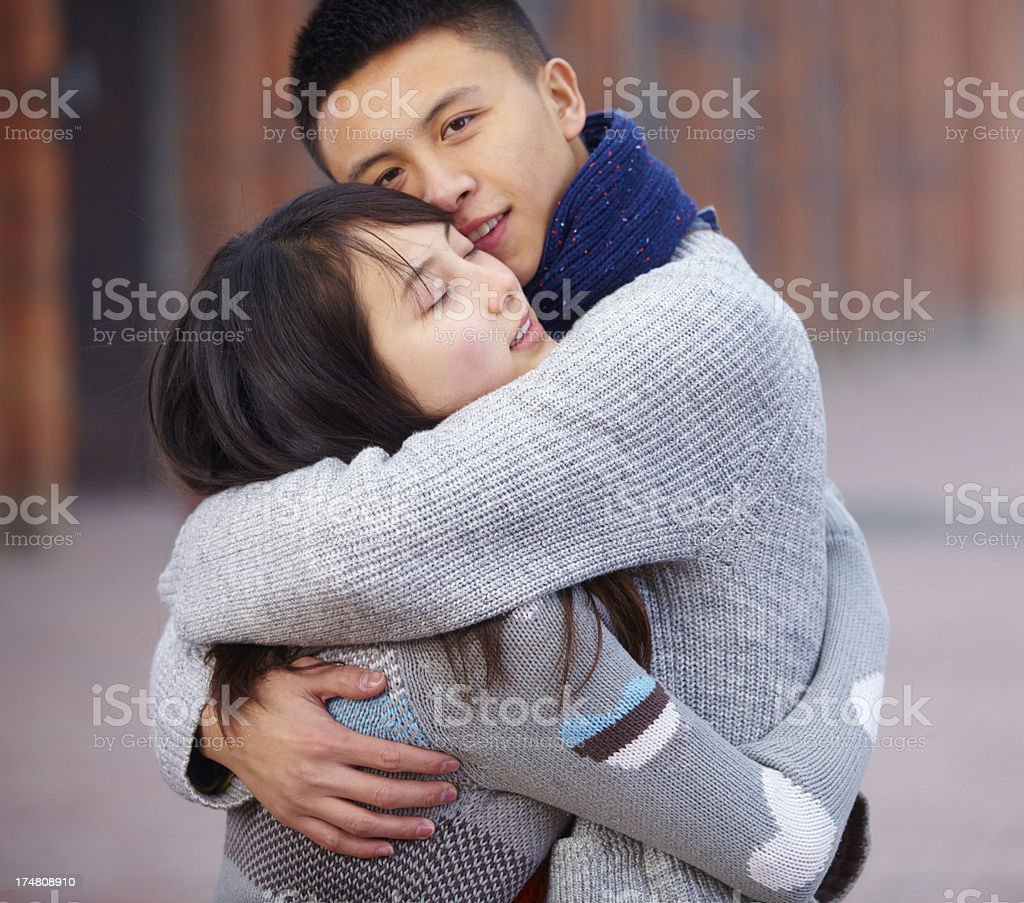 happy young lover holding together royalty-free stock photo