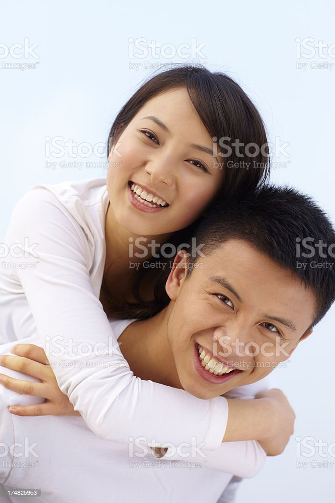 happy young lover together outdoor royalty-free stock photo