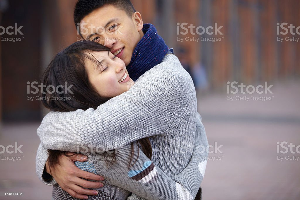 happy young lover together royalty-free stock photo
