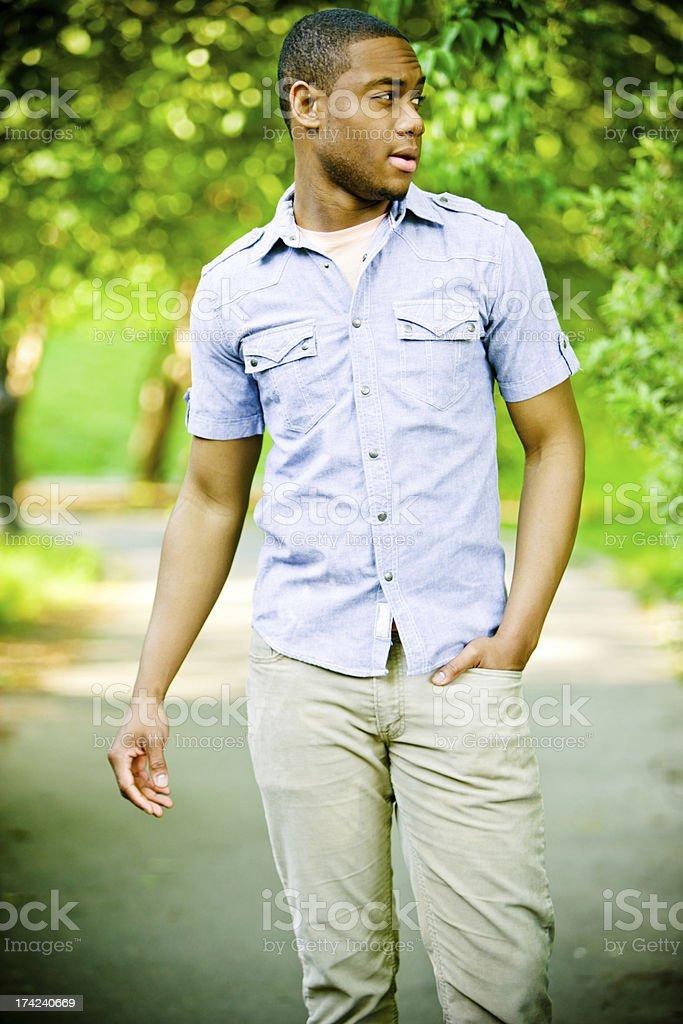 Happy Young Man enjoying summer royalty-free stock photo