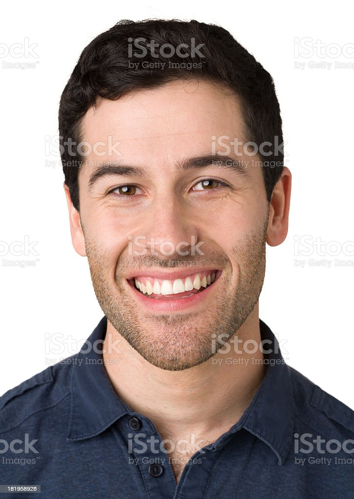 Happy Young Man Headshot Portrait royalty-free stock photo