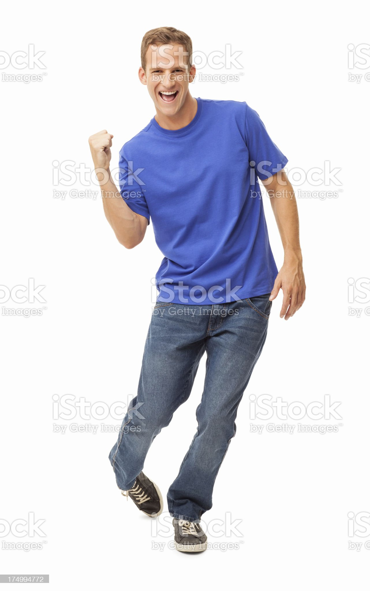 Happy Young Man - Isolated royalty-free stock photo