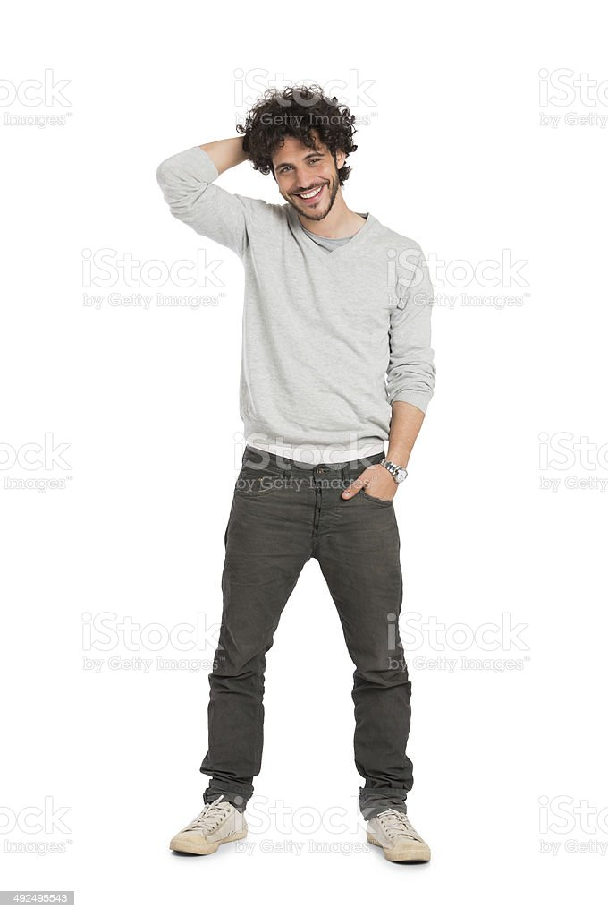 Happy Young Man stock photo