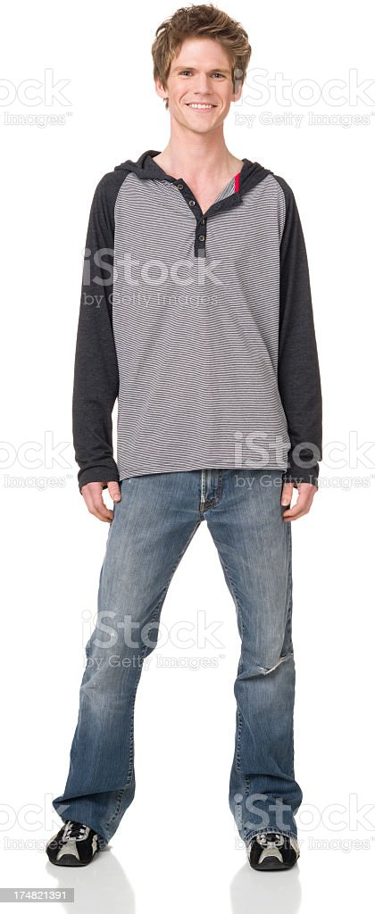 Happy Young Man Standing Portrait royalty-free stock photo