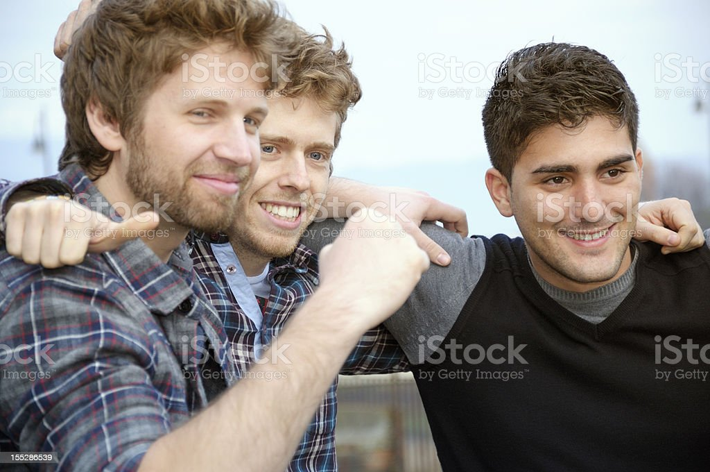 Happy Young Men Thumbs Up royalty-free stock photo