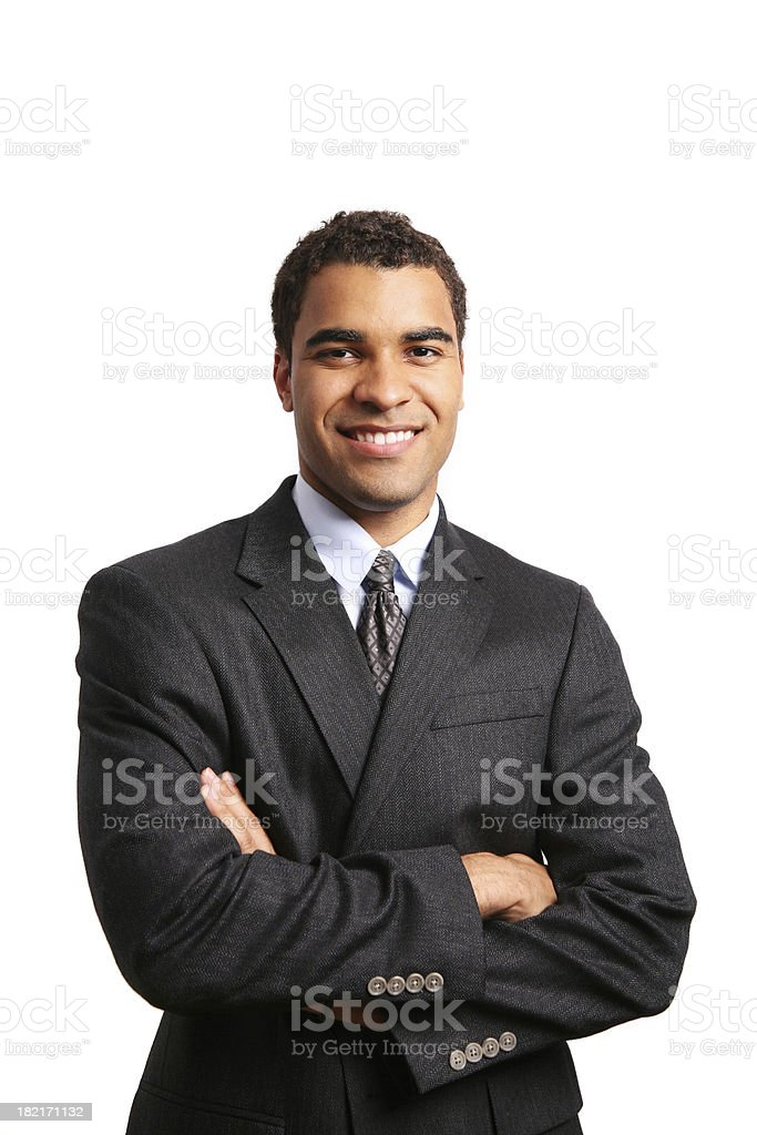 Happy young minority business man royalty-free stock photo