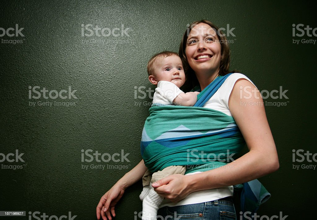 Happy Young Mother and Child stock photo