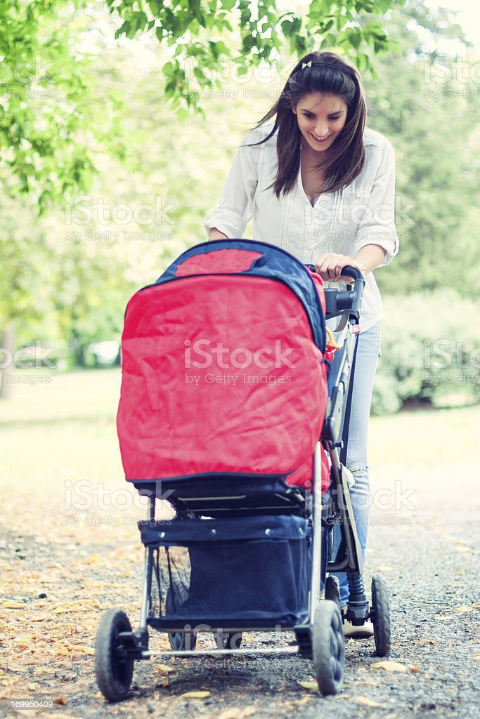 Happy young mother stock photo