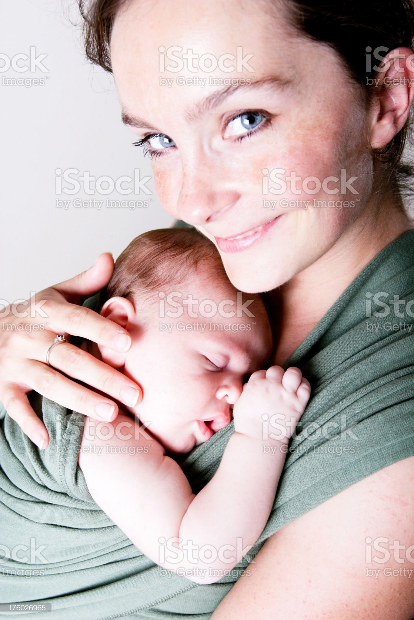 Happy young mother royalty-free stock photo