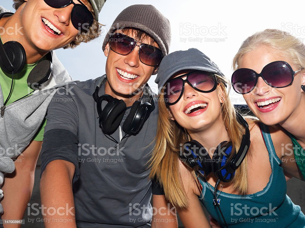 Happy young people having fun royalty-free stock photo