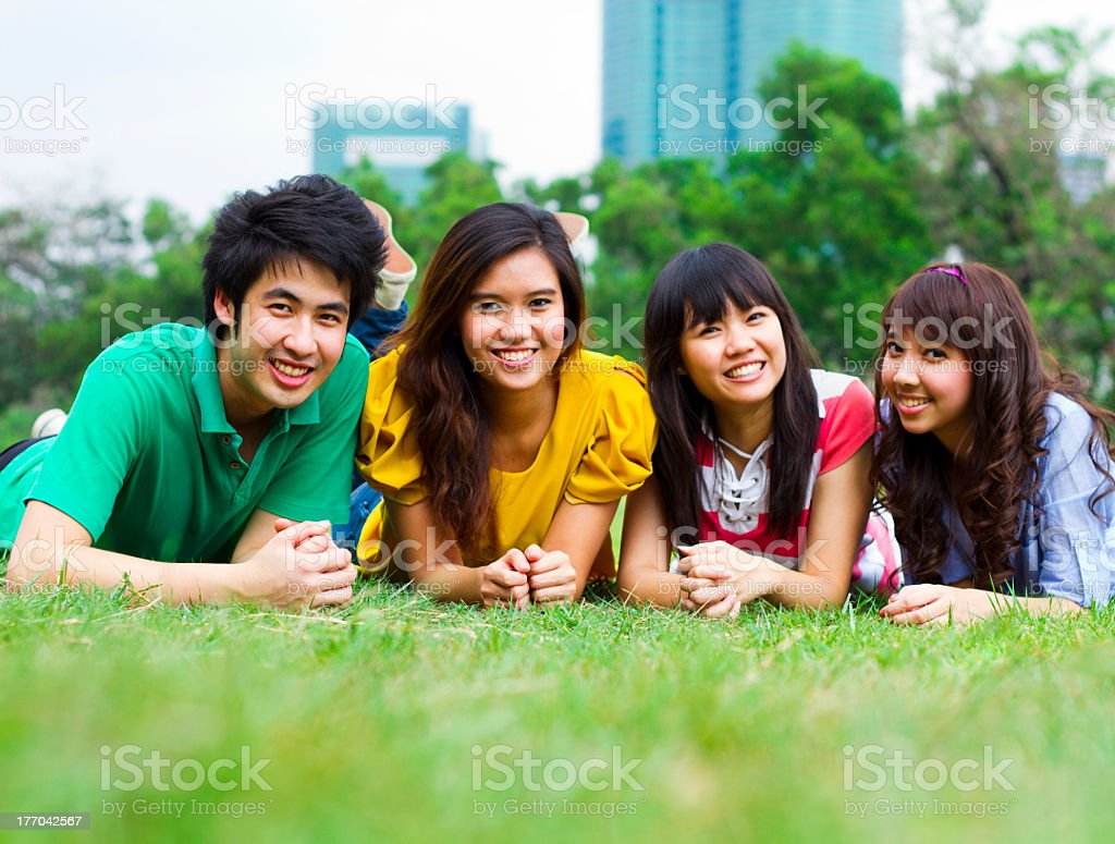 Happy Young People royalty-free stock photo
