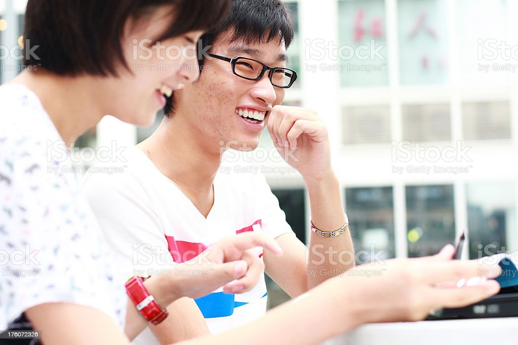 happy young students study togeter royalty-free stock photo