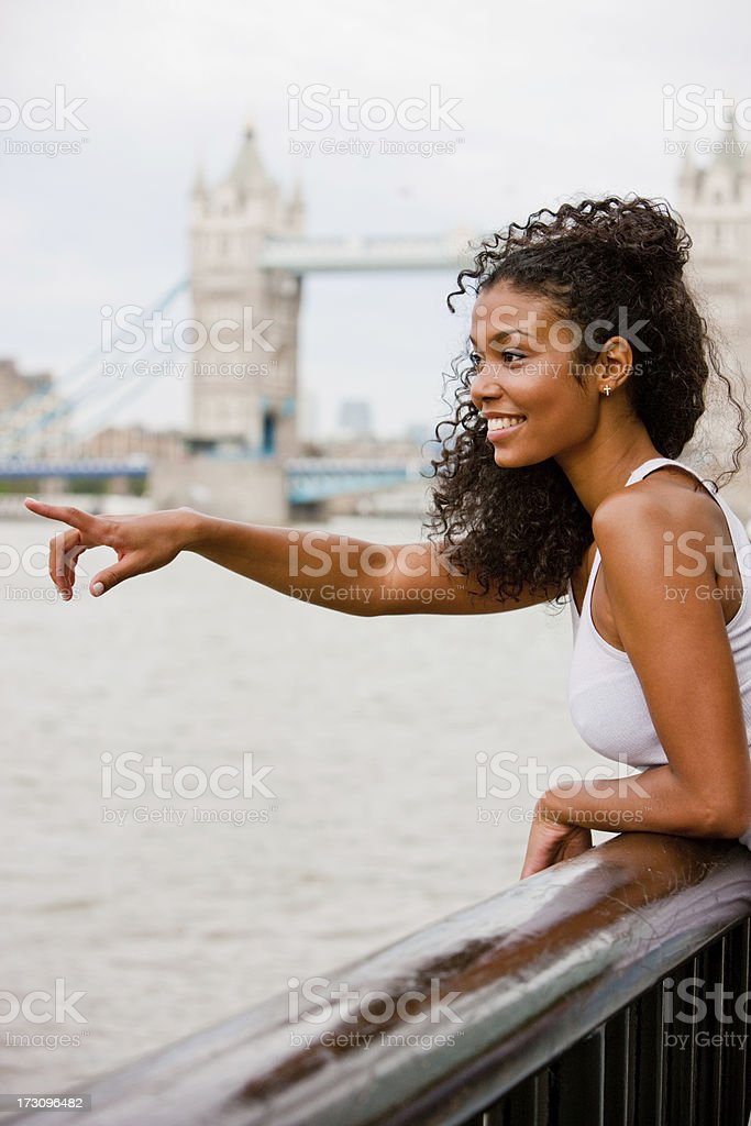 Happy Young Woman in London royalty-free stock photo